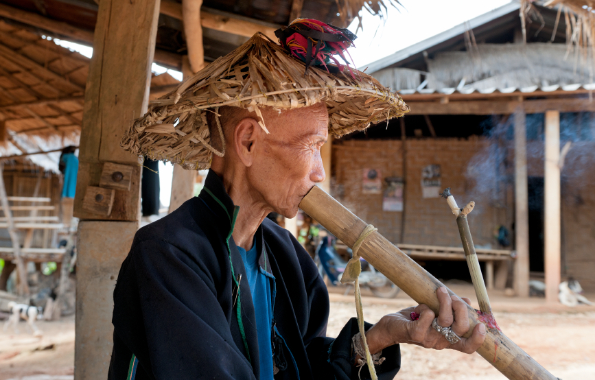 Thailand, Akha village, Akha people  editorial