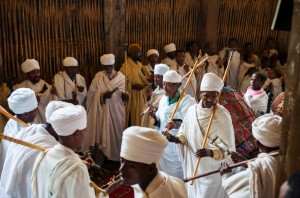 Ethiopian Orthodox Christians in church
