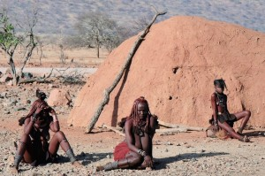 Poverty issues face Three generation of himba women. Epupa-Kaokoland-Namibia